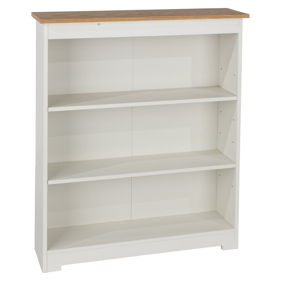 Abdabs Furniture Colorado Warm White Low Wide Bookcase