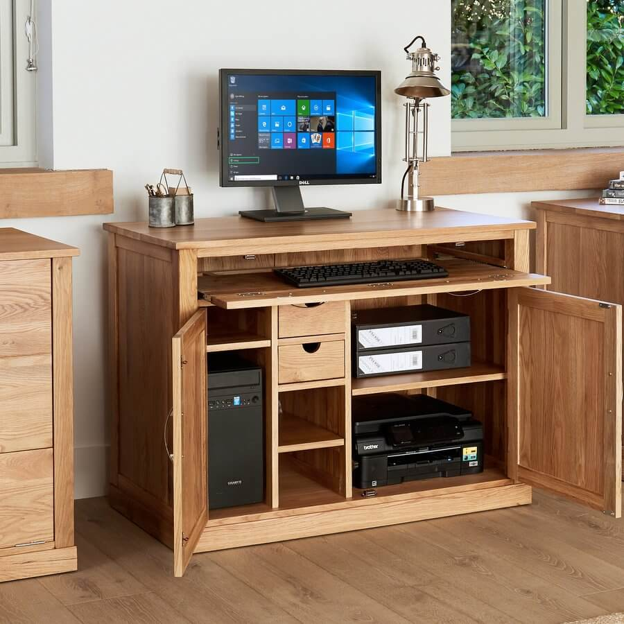 abdabs furniture hidden home office mobel oak. Black Bedroom Furniture Sets. Home Design Ideas